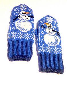 Ravelry: Olaf og Kalle votter /Little Snowman mittens Mittens Pattern, Knit Mittens, Knitted Gloves, Knitting Charts, Baby Knitting, Knitting Patterns, Crochet Patterns, Crochet Hand Warmers, Fair Isle Knitting