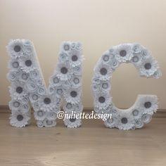 Flower Letter, Felt Flowers Letter, Nursery Decor, Free Standing Letter Nursery, Wedding Backdrop, Wedding Decor by juliettesdesigntr on Etsy https://www.etsy.com/listing/595521440/flower-letter-felt-flowers-letter