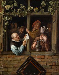 Jan Steen - Rhetoricians at a Window [c.1661-66]