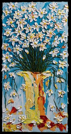"""April Showers"" - an impasto painting by Barbara Scharpf of Creative Womanhood"