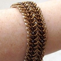 Double Flat Spiral Bracelet Pattern by Abbey McKenna at Bead-Patterns.com