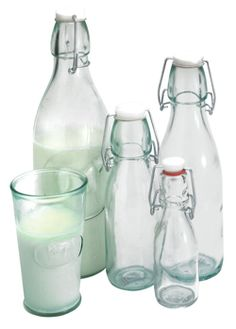 Eddingtons - classic milk glass bottles
