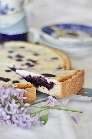 KakkuKatri: Mustikkarahkapiirakka Sweet Pie, Camembert Cheese, Muffins, Bakery, Sweets, Candy, Snacks, Cooking, Breakfast
