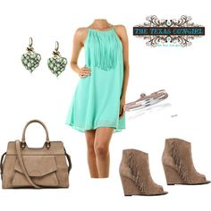 """Western Fringe Dress"" by thetexascowgirl on Polyvore"