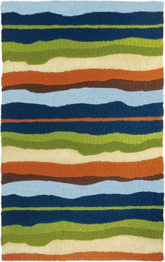 Capri Stripe from the Jellybean® Home & Garden Collection offers a bold striped pattern with great home decor colors. This stripe in blue, green, off white, and orange will easily fit into most any decor. Washable and Indoor / Outdoor. Photo Wall Collage, Picture Wall, Navy Blue Area Rug, Beige Area Rugs, Cool Wallpaper, Pattern Wallpaper, Indoor Outdoor Area Rugs, Outdoor Living, Pics Art