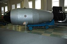"Model of the ""Tsar Bomba"" in the Sarov atomic bomb museum"