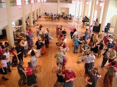 Contra dancing in Columbia, Missouri, at Spring Breakdown 2008