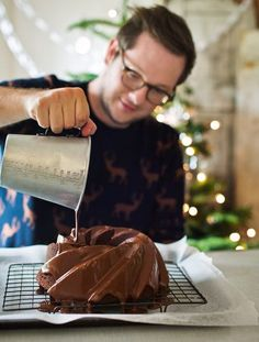 Edd's Spiced Chocolate Bundt Cake from the Great British Bake Off Christmas Cookbook. You can make this cake in advance and freeze it until you want to serve it, helping to take the stress out of the festive food prep.