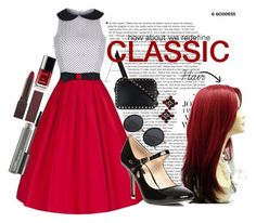 """""""Classic"""" by keylingering on Polyvore featuring Valentino, MAC Cosmetics, Burt's Bees, Dorothy Perkins, red, classy and fabulous"""