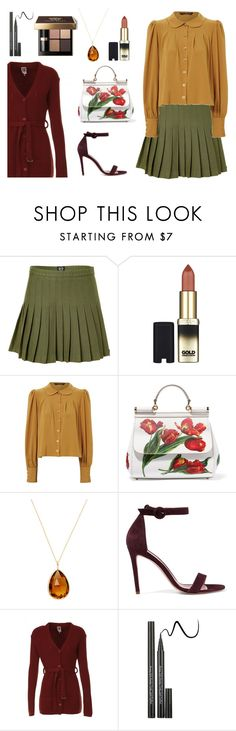 """""""Olive Tree"""" by miss-a-belle ❤ liked on Polyvore featuring McQ by Alexander McQueen, L'Oréal Paris, Jane Norman, Dolce&Gabbana, Goshwara, Iris & Ink, I'm Isola Marras and Bobbi Brown Cosmetics"""