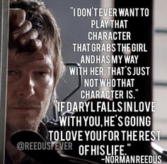Norman Reedus as Daryl Dixon from The Walking Dead No-one can tell me that he didn't fall in love with Beth. Daryl Dixon Walking Dead, Walking Dead Memes, Fear The Walking Dead, Norman Reedus, Darryl Dixon, Nerd, Dead Inside, Stuff And Thangs, Full House
