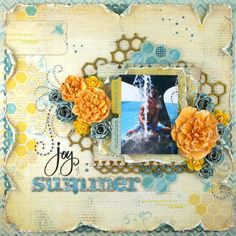 Oooh LaLa!  A very pretty #scrapbook #page #layout!  Brought to you by Scrap 'n Paradise, The Oklahoma, USA scrappn retreat      scrapnparadise.webs.com