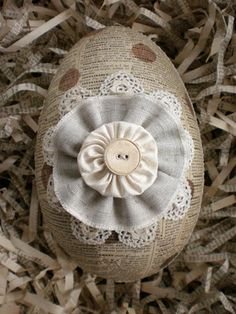 More paper-covered eggs...