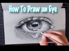 How to Draw an Eye using Charcoal, Step by step process