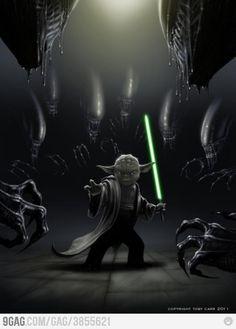 Alien Vs Yoda