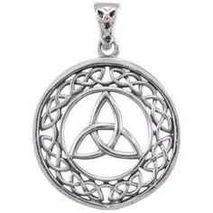 925 Sterling Silver Celtic Infinity Knots Trinity Triquetra Round Charm Pendant