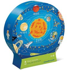 This kids Solar System 60 pc puzzle looks out-of-the-world with its beautifully detailed illustrations of the planets, asteroids, constellations, spaceships, and astronauts.