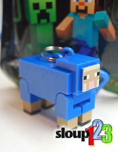 MINECRAFT-HANGERS-BLUE-SHEEP-VARIANT-SERIES-1-CHASE-FIGURE-RARE