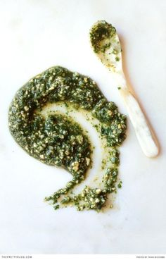 Yummy Pesto recipe! Perfect for any beef or lamb dishes! Try this recipe today!