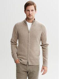 Cashmere full zip sweater jacket | Banana Republic | $250