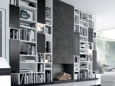 Black and White Shelves by Jesse Home Furnishings
