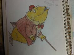Great sketch of the fish from Beautiful Briny Sea.