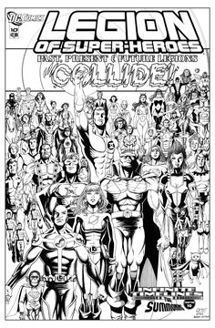 Legion of Superheroes Homage to JLA Year One Issue 12 ( Infinite Timelines : The Summoning - Chapter 10) Comic Art