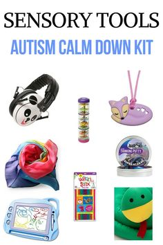 Looking for ways to calm a child with autism or sensory processing disorder during a meltdown? These 8 products help calm children with anger, anxiety, autism, and sensory processing disorder. These calm down kit tools are perfect for home, on the go, and in the classroom. These tools will help de-escalate meltdowns and help with self-regulation.Read it now or pin for later! #sensoryprocessingdisorder #autism #SPD #ASD