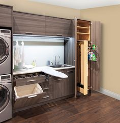 30 Wonderful Ideas Basement Remodel for Laundry Room Laundry room organization Laundry room decor Small laundry room ideas Farmhouse laundry room Laundry room shelves Laundry closet Kitchen Short People Freezer Shiplap Laundry Closet, Laundry Room Organization, Laundry In Bathroom, Basement Laundry, Laundry Hamper, Cleaning Closet, Kitchen Cleaning, Utility Closet, Laundry Area