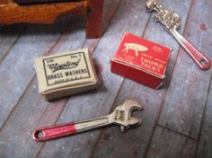 Miniature Vintage Office SuppliesThumb Tacks and Brass by LDelaney