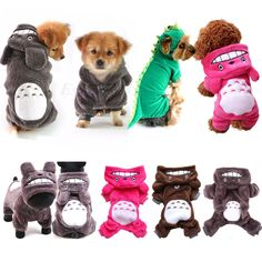 Pet Clothes Totoro Hoodie Costume Outfits Dog Jacket Coat Puppy Cat Apparel Suit #Unbranded
