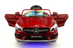 MERCEDES CLA45 12V KIDS RIDE-ON CAR WITH R/C PARENTAL REMOTE | CHERRY RED METALLIC