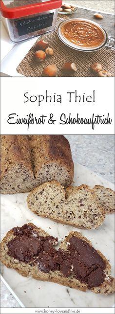 So einfach machst du Sophia Thiel Eiweißbrot mit Schoko-Haselnuss-Aufstrich. #lowcarb