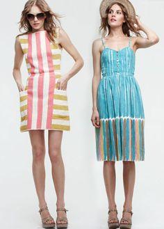 I think the left dress is so cute! Lauren Moffat.