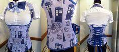 Tardis corset. Geek fashion! xD