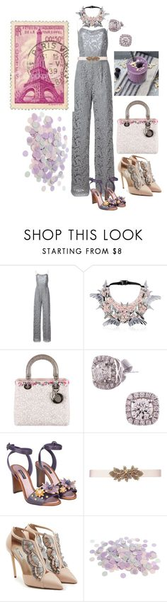 """Untitled #1093"" by aifosbr ❤ liked on Polyvore featuring beauty, ADAM, Heaven Tanudiredja, Christian Dior, Dolce&Gabbana, Oscar de la Renta and Olgana"