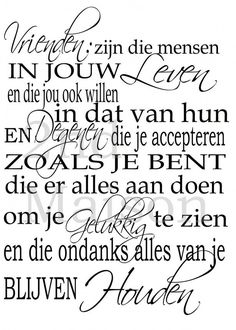 Dat is idd échte vriendschap😍😘 Poem Quotes, Words Quotes, Wise Words, Best Quotes, Life Quotes, Family Quotes, Poems, Beautiful Lyrics, Dutch Quotes