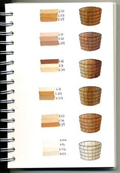 Copic Swatch Book - browns - bjl