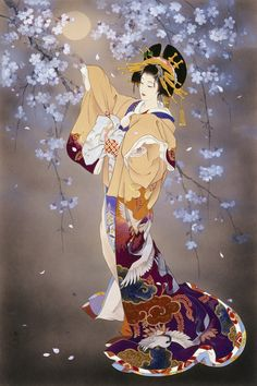 Photo reference inspiration for my geisha tattoo Haruyo Morita Art Geisha, Geisha Kunst, Art And Illustration, Art Chinois, Art Asiatique, Art Japonais, Japanese Painting, Japanese Prints, Japan Art