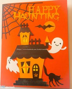Halloween card,homemade,cricut https://kraftygrandmascards.etsy.com/