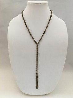 Brass Y-Necklace Chain Tassel