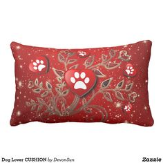 Shop Dog Lover CUSHION created by DevonSun. Lumbar Pillow, Throw Pillows, Matching Gifts, Dog Mom, Love Heart, Dog Lovers, How Are You Feeling, Cushions, Dogs