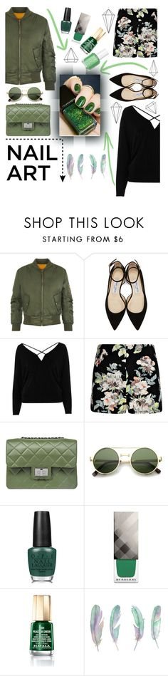 """Movin' Out"" by superswimmerca ❤ liked on Polyvore featuring beauty, WearAll, Jimmy Choo, River Island, Boohoo, Design Inverso, ZeroUV, OPI, Burberry and Mavala"