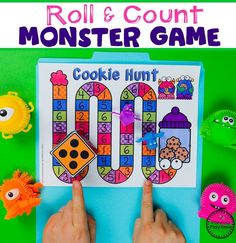 Preschool Counting Game - Monster Theme #backtoschool #monstertheme #preschool #planningplaytime Counting Activities, Preschool Learning Activities, Preschool Themes, Fun Math, Preschool Activities, Preschool Worksheets, Space Activities, Winter Activities, Maths
