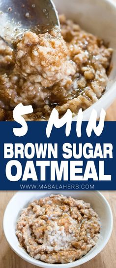 5 min brown sugar oatmeal porridge [+video] healthier copycat quaker style brown sugar oatmeal porridge to start out in the morning. Dinner Recipes For Kids, Brunch Recipes, Kids Meals, Breakfast Recipes, Sweets Recipes, Breakfast Ideas, Breakfast Catering, Breakfast Menu, Health Breakfast