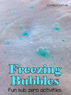 Winter Activities: Freezing Bubbles we had so much fun doing these sub zero winter activities and the freezing bubbles were so beautiful Winter Activities for Kids Winter Activities For Toddlers, Winter Outdoor Activities, Winter Crafts For Kids, Winter Kids, Winter Sports, Summer Activities, Winter Crafts For Preschoolers, Long Winter, Toddler Activities