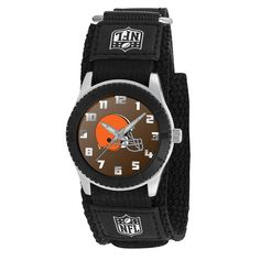 Cleveland Browns Black Rookie Series Youth / Kids Watch   Officially Licensed Team logo Stainless Steel Back Adjustable Velcro Strap Designed for Young men/boys - Maximum wrist size: 6'' Quartz Accura