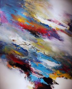 """Abstract Painting """"Zenith"""" by Jeffrey Bisaillon"""
