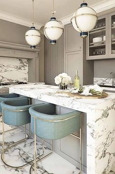 40 Kitchen Design Ideas Stands Like To Win Your Likes Page 140 Best Kitchen Interior Design Ideas 2019 White Kitchen Design İdeas Modern Photos Best Kitchen Interior Design Ideas 2019 –… Marble Countertops Kitchen, Affordable Dining Room, Home Decor Kitchen, House Interior, Home Kitchens, Interior, Kitchen Design, Dining Room Decor, Kitchen Interior
