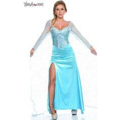 Sexy 'Frozen' Halloween Costumes Are Here (and Yes, There's Even a... ❤ liked on Polyvore featuring costume